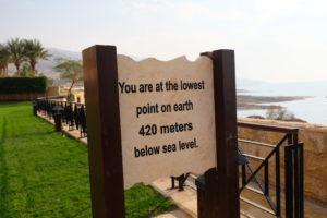 point le plus bas sur terre