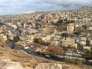 Vue du théâtre dd'Amman depuis la citadelle