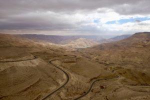 la vallée du Wadi Mujib