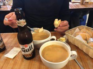 soupe de homard au Sea Baron