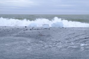 iceberg échoués sur Diamond Beach