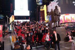 Times Square escaliers rouge