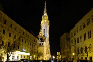 quartier de Buda de nuit