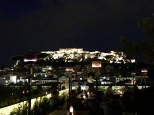 vue de l'acropole depuis le bar 360
