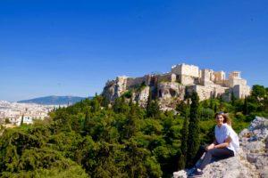 vue de l'Acropole depuis l'aréopage