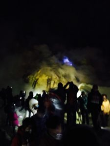 les flammes bleues du Kawah Ijen