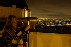 griffith observatory by night