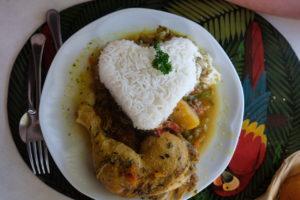 "Colombo au restaurant ""Toumbana"" aux Saintes"