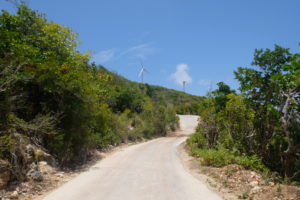 éoliennes vers Morne Souffleur à la Désirade