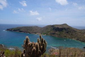 vue sur l'archipel des saintes depuis le fort Napoleon