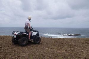 vue sur la Baie Mahault à la Désirade