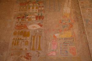peintures du temple funéraire d' Hatsepsut