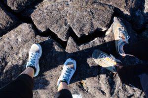 chaussures de randonnées impérativement !