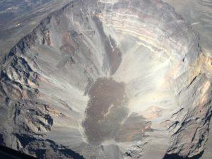 cratère Dolomieu vue aérienne !