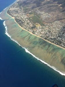 lagon de la Reunion vue aérienne !